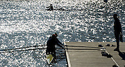2005 FISA Team Cup, Rio Guadalquiver Rowing Course, Seville, SPAIN, 19.02.2005. Training Day; RUS W2X Irina . early morniing training session. Photo  Peter Spurrier. .email images@intersport-images. Sunrise, Sunsets, Silhouettes