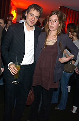 BEN & KATE GOLDSMITH at the opening party for a new bowling alley All Star Lanes, at Victoria House, Bloomsbury Place, London on 19th January 2006.<br />