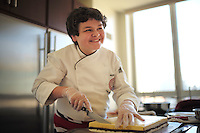 NEW YORK - April 10, 2014 - 13 year old Alexander Weiss was the winner of Master Chef Junior on TV. He goes to the British International School in New York and was invited by the British Consul General  to prepare a British themed dinner at the consul's residence. <br /> (Photo by Robert Caplin)