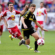 HARRISON, NEW JERSEY- OCTOBER 16:  Will Trapp #20 of Columbus Crew in action during the New York Red Bulls Vs Columbus Crew SC MLS regular season match at Red Bull Arena, on October 16, 2016 in Harrison, New Jersey. (Photo by Tim Clayton/Corbis via Getty Images)