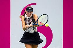PORTOROZ, SLOVENIA - SEPTEMBER 16: Kaja Juvan of Slovenia competes during the 3rd Round of WTA 250 Zavarovalnica Sava Portoroz at SRC Marina, on September 15, 2021 in Portoroz / Portorose, Slovenia. Photo by Matic Klansek Velej / Sportida