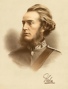 'Francis Richard Charteris, 10th Earl of Wemys and March (1818-1914), Scottish nobleman and Whig politician and proponent of Homeopathy. Tinted lithograph c1880.'
