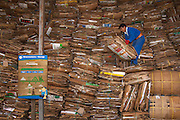 Recycling Plant.<br /> Santa Cruz Island, GALAPAGOS ISLANDS<br /> ECUADOR.  South America<br /> A multi-institutional effort is being made on Santa Cruz Island to recycle certain elements of rubbish generated by the population. Presently there is equipment to recycle glass by first crushing and then making it into pavement bricks, cardboard is sorted and bailed then returned to the mainland for processing and plastic is also crushed and returned to the mainland.