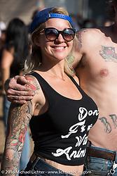 "Morgan Terman at Willie's Tropical Tattoo ""Chopper Time"" old school chopper show during Daytona Bike Week's 75th Anniversary event. Ormond Beach, FL, USA. Thursday March 10, 2016.  Photography ©2016 Michael Lichter."
