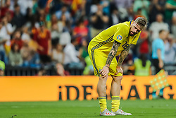 June 10, 2019 - Madrid, SPAIN - 190610 Pontus Jansson of Sweden looks dejected after 3-0 during the UEFA Euro Qualifier football match between Spain and Sweden on June 10, 2019 in Madrid  (Credit Image: © Andreas L Eriksson/Bildbyran via ZUMA Press)