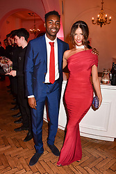 Lara Fraser and Mark Crown at the Floral Ball in aid of Sheba Medical Center hosted by Laura Pradelska and Zoe Hardman and held at One Marylebone, 1 Marylebone Road, London England. 14 March 2017.