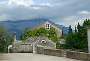 Houses in Zrnovo village, island of Korcula, Croatia