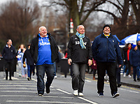 Football - 2018 / 2019 FA Cup - Third Round: Queens Park Rangers vs. Leeds United<br /> <br /> Leeds United fans in good spirits before the game, at Loftus Road.<br /> <br /> COLORSPORT/ASHLEY WESTERN