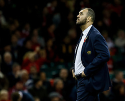 Head Coach Michael Cheika of Australia looks to the heavens<br /> <br /> Photographer Simon King/Replay Images<br /> <br /> Under Armour Series - Wales v Australia - Saturday 10th November 2018 - Principality Stadium - Cardiff<br /> <br /> World Copyright © Replay Images . All rights reserved. info@replayimages.co.uk - http://replayimages.co.uk
