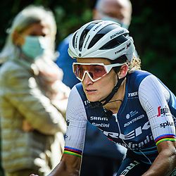 DEIGNAN Elizabeth ( GBR ) – TREK - Segafredo ( TFS ) - USA – Querformat - quer - horizontal - Landscape - Event/Veranstaltung: Liège Bastogne Liège - Category/Kategorie: Cycling - Road Cycling - Elite Women - Elite Men - Location/Ort: Europe – Belgium - Wallonie - Liège - Start: Bastogne-Womens Race - Liège-Mens Race - Finish: Liège - Discipline: Road Cycling - Distance: 257 km - Mens Race - 135 km - Womens Race - Date/Datum: 04.10.2020 – Sunday - Photographer: © Arne Mill - frontalvision.com