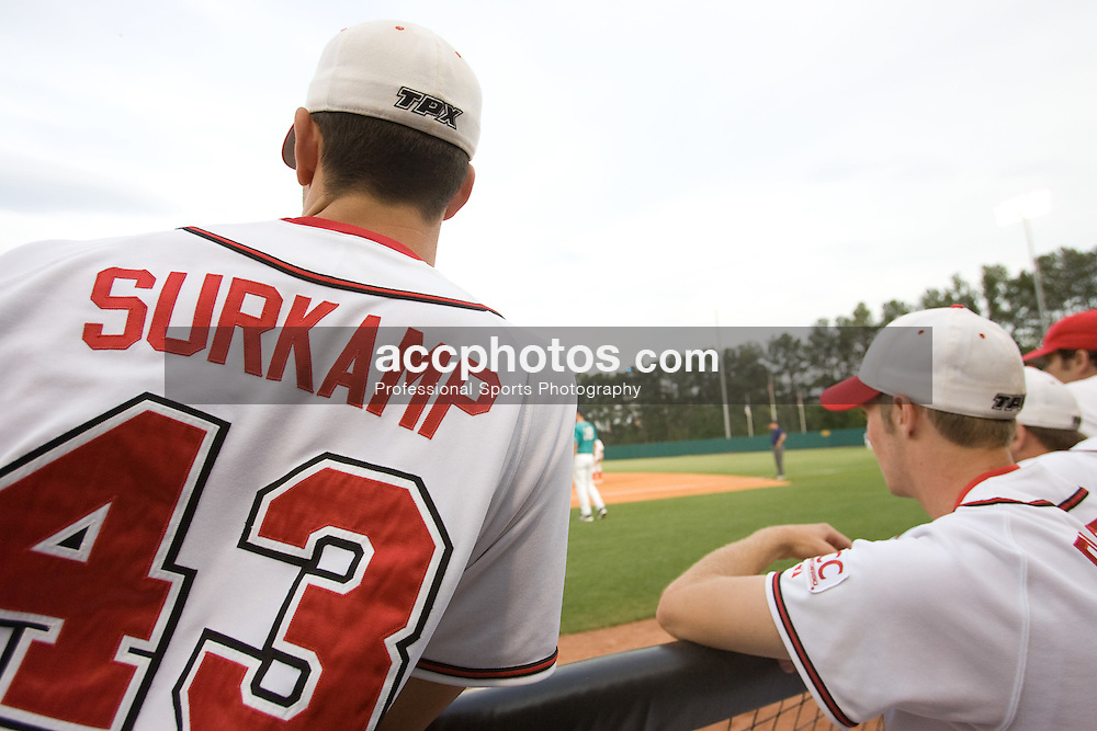 25 April 2007: North Carolina State Wolfpack pitcher Eric Surkamp (43) during a 6-1 win over the North Carolina - Wilmington Seahawks at Doak Field in Raleigh, NC.