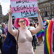 Glasgow's LGBT community on a march from Kelvingrove Park to George Square as the city celebrates 50 years of LGBT equality with a major pride march.<br /> <br /> Picture Robert Perry  20th July 2019<br /> <br /> Must credit photo to Robert Perry<br /> FEE PAYABLE FOR REPRO USE<br /> FEE PAYABLE FOR ALL INTERNET USE<br /> www.robertperry.co.uk<br /> NB -This image is not to be distributed without the prior consent of the copyright holder.<br /> in using this image you agree to abide by terms and conditions as stated in this caption.<br /> All monies payable to Robert Perry<br /> <br /> (PLEASE DO NOT REMOVE THIS CAPTION)<br /> This image is intended for Editorial use (e.g. news). Any commercial or promotional use requires additional clearance. <br /> Copyright 2018 All rights protected.<br /> first use only<br /> contact details<br /> Robert Perry     <br /> <br /> no internet usage without prior consent.         <br /> Robert Perry reserves the right to pursue unauthorised use of this image . If you violate my intellectual property you may be liable for  damages, loss of income, and profits you derive from the use of this image.