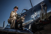 Capt. Miller and a Vultee BT-13 at Warbirds Over the West.
