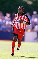Kwame Ampadu (Exeter City) Exeter City v Everton, Pre-Season Friendly, 5/08/2000. Credit: Colorsport / Matthew Impey