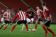 Manchester United Cameron Borthwick-Jackson during the Barclays U21 Premier League match between U21 Southampton and U21 Manchester United at the St Mary's Stadium, Southampton, England on 25 April 2016. Photo by Phil Duncan.