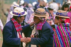 Two Men Greeting Todos Santos Festival