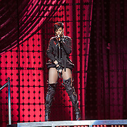 Rhianna performs at the Pepsi Smash concert prior to the Super Bowl.