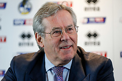 New Bristol Rovers Chairman Steve Hamer addresses the media at a press conference to announce that Bristol Rovers has been aquired by the Jordanian Al-Qadi Family who have taken a 92 percent stake in the club - Mandatory byline: Rogan Thomson/JMP - 07966 386802 - 19/02/2016 - FOOTBALL - Memorial Stadium - Bristol, England - Bristol Rovers New Owners.