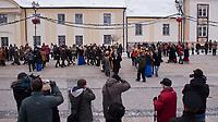 16.01.2013 N/z studniowka miejska na Placu Miejskim z udzialem prezydenta Bialegostoku fot Michal Kosc / AGENCJA WSCHOD