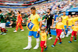 July 2, 2018 - Samara, Russia - 180702 Thiago Silva of Brazil enters the pitch ahead of the FIFA World Cup round of 16 match between Brazil and Mexico on July 2, 2018 in Samara..Photo: Petter Arvidson / BILDBYRN / kod PA / 92081 (Credit Image: © Petter Arvidson/Bildbyran via ZUMA Press)