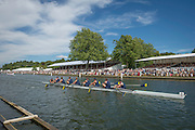 Henley Royal Regatta, Henley on Thames, Oxfordshire, 2-6 July 2014.  Friday  15:07:15   04/07/2014  [Mandatory Credit/Intersport Images]<br /> <br /> Rowing, Henley Reach, Henley Royal Regatta.<br /> <br /> The Ladies' Challenge Plate<br /> University of California, Berkeley, U.S.A.