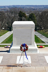 The tomb of the Unknown Soldier in Arlington Cemetery in Washington DC in the United States. From a series of travel photos in the United States. Photo date: Saturday, March 31, 2018. Photo credit should read: Richard Gray/EMPICS