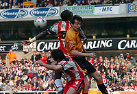 Photo: Kevin Poolman.<br />Wolverhampton Wanderers v Southampton. Coca Cola Championship. 31/03/2007. Gary Breen of Wolves' can't direct his header towards goal.