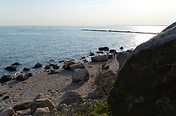 A Late Afternoon in May at Meigs Point Hammonassett Beach State Park, Connecticut. Views at the End Moraine and a few Huge Glacial Erratics
