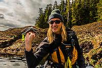 Skiff excursion from Wilderness Explorer, Takatz Bay, Baranof Island, Inside Passage, Southeast Alaska USA.