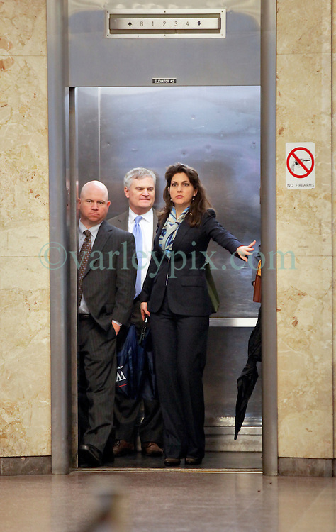 12 June  2015. New Orleans, Louisiana. <br /> Ryan LeBlanc (left) and his sister Rita Benson LeBlanc (rt) arrive at Civil Distrcit Court on the last day of a hearing to determine the competency of their grandfather Tom Benson. Benson is the billionaire owner of the NFL New Orleans Saints, the NBA New Orleans Pelicans, various auto dealerships, banks, property assets and a slew of business interests. Rita, her brother and mother demanded a competency hearing after Benson changed his succession plans and decided to leave the bulk of his estate to third wife Gayle, sparking a controversial fight over control of the Benson business empire.<br /> Photo©; Charlie Varley/varleypix.com