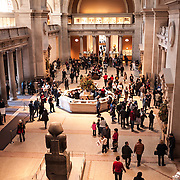 The main entrance hall at the Metropolitan Museum of Art in New York, New York.