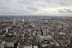 © Licensed to London News Pictures. 22/09/2019. London, UK. An aerial view of London on a cloudy day in the capital seen from BT Tower. Photo credit: Dinendra Haria/LNP