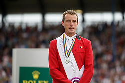 iIndividual podium, Wathelet Gregory, (BEL)<br /> Individual Final Competition round 2<br /> FEI European Championships - Aachen 2015<br /> © Hippo Foto - Dirk Caremans<br /> 23/08/15