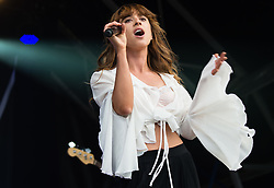 © Licensed to London News Pictures. 21/06/2015. London, UK.  Foxes performing at Hyde Park supporting headliner Kylie Minogue as part of the British Summer Time series of entertainment and music events and concerts held at Hyde Park.  Foxes is Louisa Rose Allen.   Photo credit: Richard Isaac/LNP