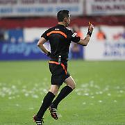 Referee's Ali Palabiyik during their Turkish SuperLeague Derby match Trabzonspor between Galatasaray at the Avni Aker Stadium at Trabzon Turkey on Sunday, 19 April 2015. Photo by TVPN/TURKPIX