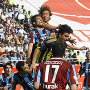 Fenerbahce's Diego Alfredo Lugano MORENO (B) and Mehmet TOPUZ (C) during their Turkey Cup final match Trabzonspor between Fenerbahce at the GAP Arena Stadium at Urfa Turkey on wednesday, 05 May 2010. Photo by TURKPIX