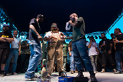 The coast-to-coast Stampeders on stage for awards at the Smokeout. Rockingham, NC. USA. Saturday, June 20, 2015. Photography ©2015 Michael Lichter.