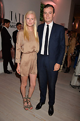 Emma Weaver and Freddie Coleridge at the Tatler's English Roses 2017 party in association with Michael Kors held at the Saatchi Gallery, London England. 29 June 2017.