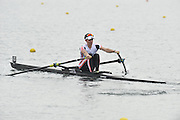 Eton, United Kingdom  GBR LM1X. Alex ROBINSON at the start of his time trial men's lightweight single sculls at the 2012 GB Rowing Senior Trials, Dorney Lake. Nr Windsor, Berks.  Saturday  10/03/2012  [Mandatory Credit; Peter Spurrier/Intersport-images]