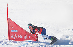 Schoeffmann Sabine during the women's Snowboard giant slalom of the FIS Snowboard World Cup 2017/18 in Rogla, Slovenia, on January 21, 2018. Photo by Urban Meglic / Sportida