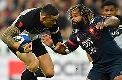 New Zeland 's Sonny Bill Williams during a rugby union international match at Stade de France stadium in Saint Denis, outside Paris, France, Saturday, Nov. 11, 2017Photo by Christian<br /> Liewig/ABACAPRESS.COM