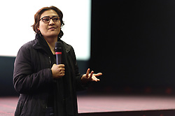 Afghan film director Sahra Mani presents her documentary 'A thousand girls like me' (denoucing the incest and rape by Kathera's father, a young Afghan girl) at cinema Majestic Compiegne during 'Festival Plurielles', on March 11, 2019 in Jaux, near Compiegne, France. Photo by Edouard Bernaux/ABACAPRESS.COM