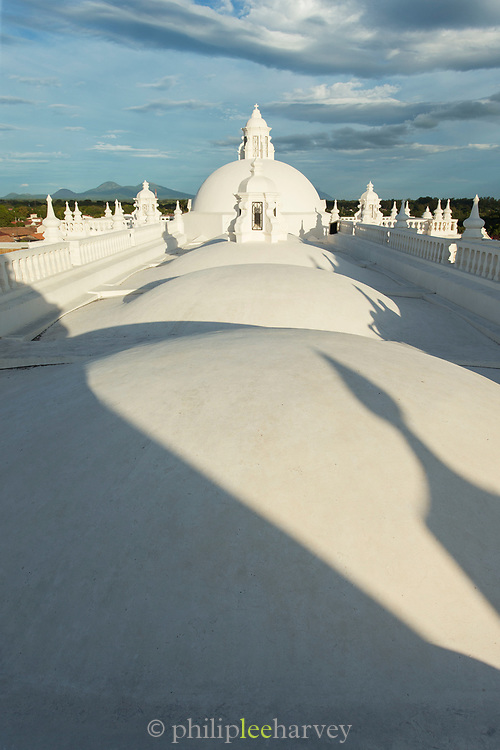 Domes on roof of Leon Cathedral in Nicaragua