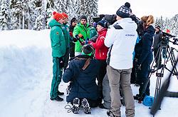 02.01.2018, Seefeld, AUT, FIS Weltcup Ski Sprung, Vierschanzentournee, Innsbruck, im Bild Richard Freitag (GER) während eines Medientermins des DSV // Richard Freitag of Germany during a Media Event of the German Skijumping Team before the 3rd Stage Insbruck of the Four Hills Tournament of FIS Ski Jumping World Cup at Seefeld, Austria on 2018/01/02. EXPA Pictures © 2018, PhotoCredit: EXPA/ JFK
