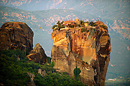Greek Orthodox Rosanou Monastery, Meteora Mountains, Greece ..<br /> <br /> Visit our GREEK HISTORIC PLACES PHOTO COLLECTIONS for more photos to download or buy as wall art prints https://funkystock.photoshelter.com/gallery-collection/Pictures-Images-of-Greece-Photos-of-Greek-Historic-Landmark-Sites/C0000w6e8OkknEb8 <br /> .<br /> Visit our MEDIEVAL PHOTO COLLECTIONS for more   photos  to download or buy as prints https://funkystock.photoshelter.com/gallery-collection/Medieval-Middle-Ages-Historic-Places-Arcaeological-Sites-Pictures-Images-of/C0000B5ZA54_WD0s