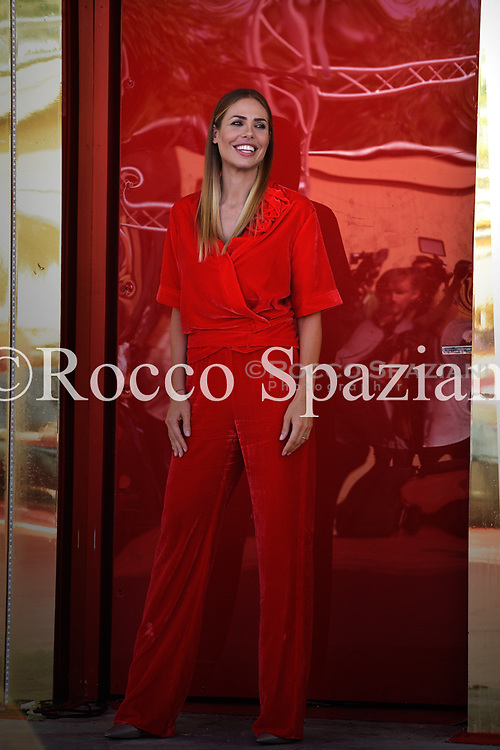 Ilary Blasi attends the presentation of 'Grande Fratello Vip' on September 21 , 2018 in Rome, Italy.