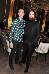 Left to right, GEORGE CRAIG and JACK GUINNESS at the Baileys Spirited Women party at Cafe Royal Hotel, Regent's Street, London on 21st March 2013.