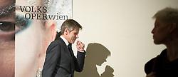 15.04.2015, Probebühne Volksoper, Wien, AUT, Pressekonferenz zu Saison 2015/16 und Bestellung der künstlerischen Direktion von 2017 bis 2022, im Bild Minister für Kunst und Kultur, Verfassung und öffentlichen Dienst Josef Ostermayer (SPÖ) // Minister of Chancellery, Media, Civil Servant, Art and Culture Josef Ostermayer (SPOe) during press conference of the Volksoper in Vienna, Austria on 2015/04/15, EXPA Pictures © 2015, PhotoCredit: EXPA/ Michael Gruber