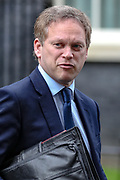 Transport Secretary Grant Shapps leaves Downing Street, London, on Tuesday, Mar 17, 2020 - the day after Prime Minister Boris Johnson called on people to stay away from pubs, clubs and theatres, work from home if possible and avoid all non-essential contacts and travel in order to reduce the impact of the coronavirus pandemic. (Photo/Vudi Xhymshiti)