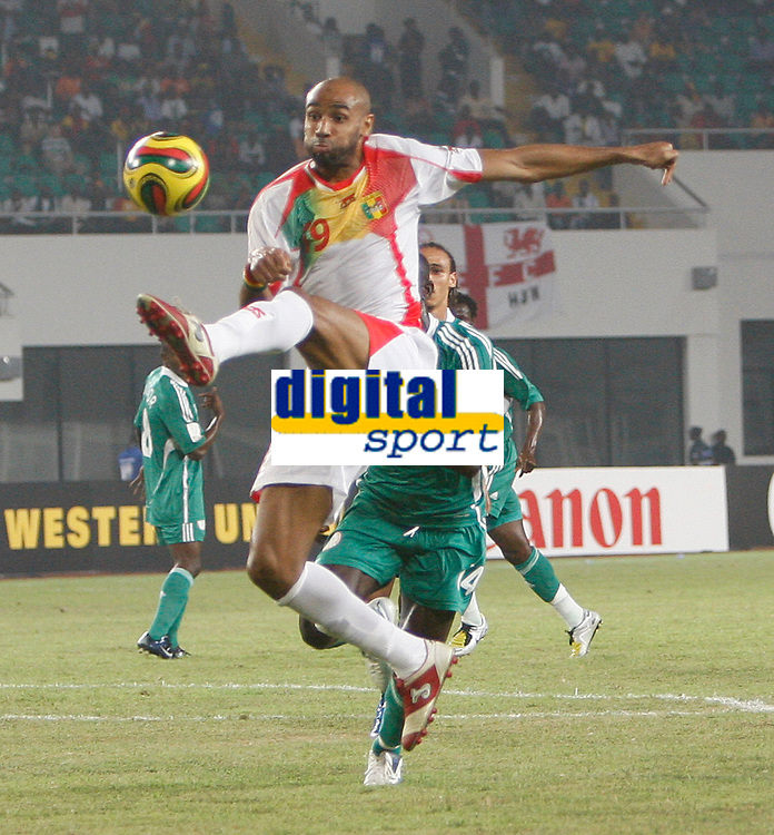 Photo: Steve Bond/Richard Lane Photography.<br />Nigeria v Mali. Africa Cup of Nations. 25/01/2008. Frederic Kanoute in mid air